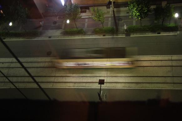 夜の路面電車
