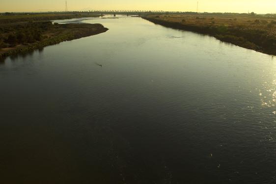 早朝の利根川